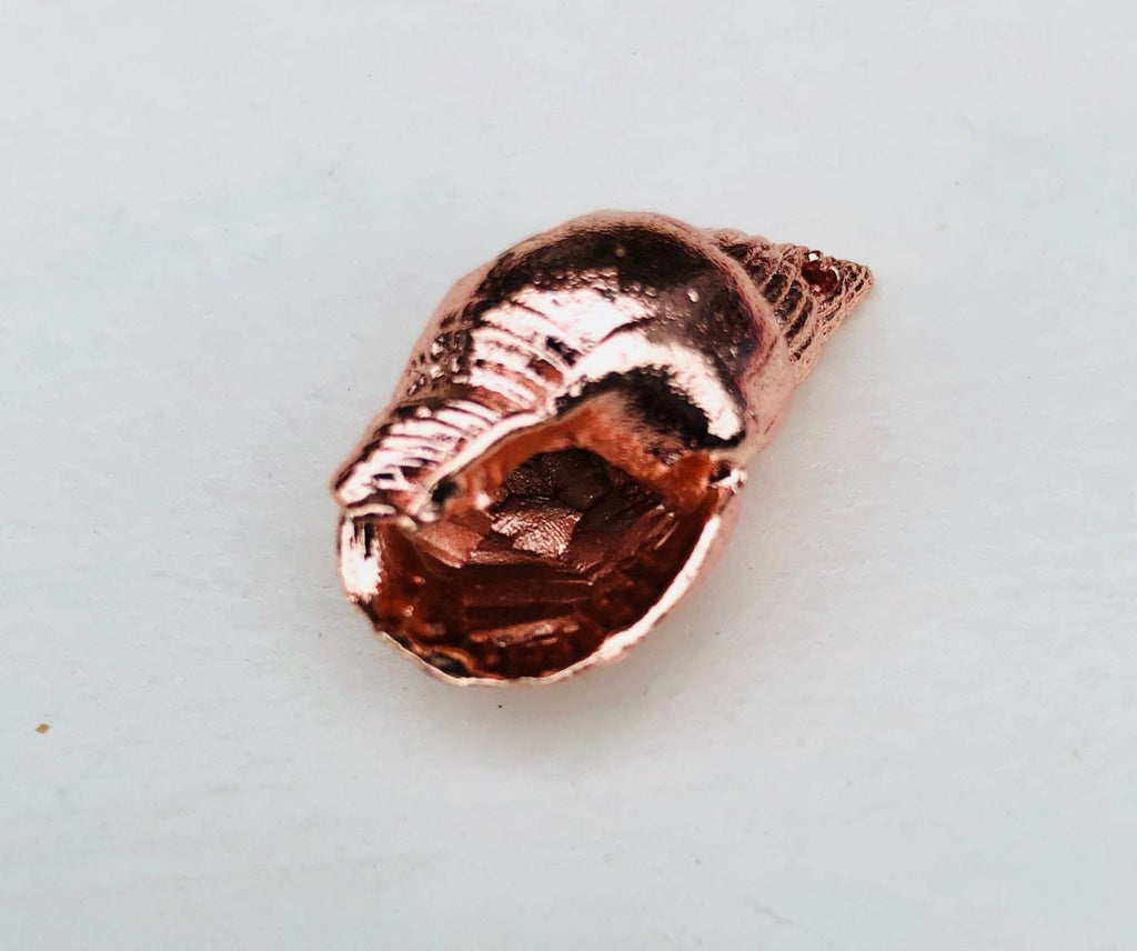 Sea Shell Pendant 2.5 cm, Rose gold plated