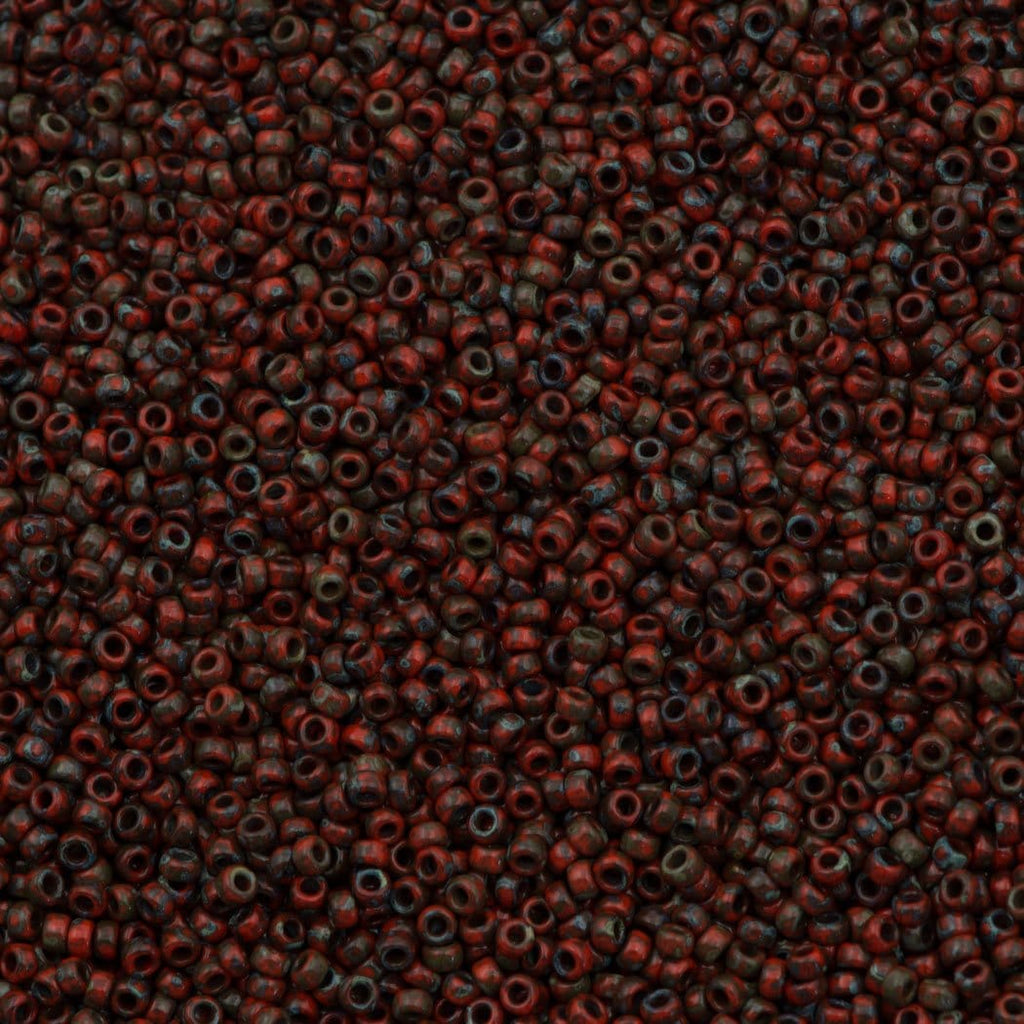 Miyuki Seed Beads 15/0, 4513 - Picasso Opaque Red Garnet, beads, miyuki beads, seed beads