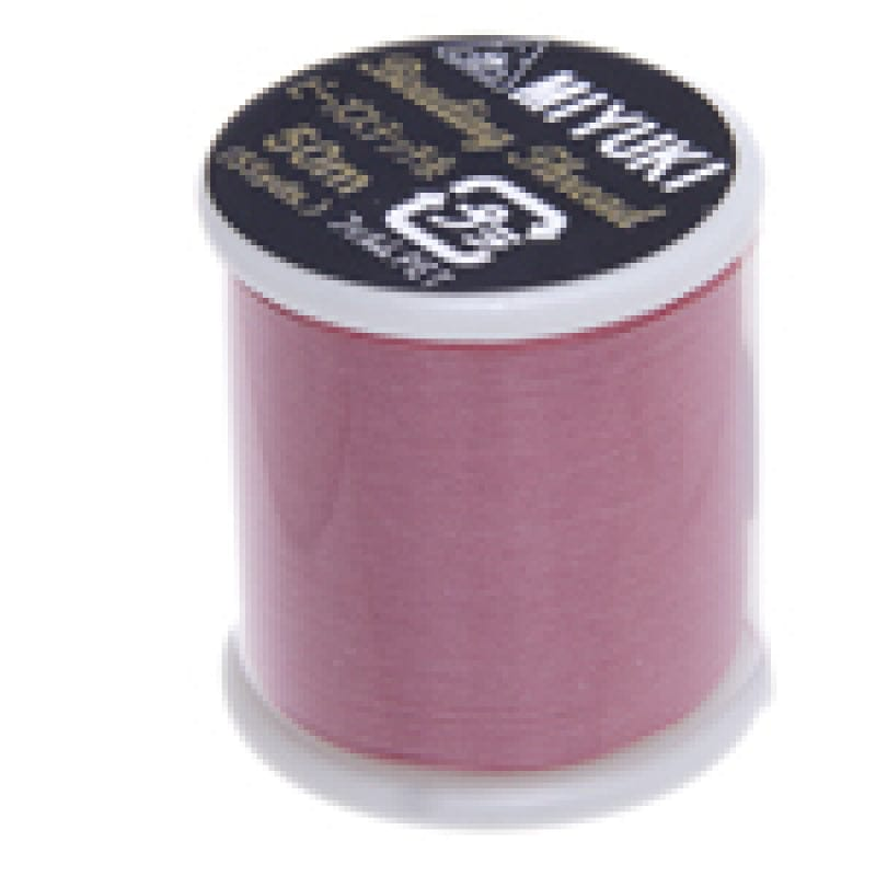 Miyuki Thread  Color 7-Pink ,Miyuki original nylon thread, delivered by 50 meters on a spool