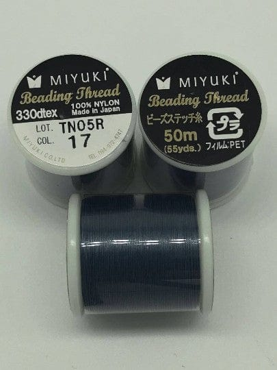 Miyuki Thread  Color 17 Dk Blue ,Miyuki original nylon thread, delivered by 50 meters on a spool