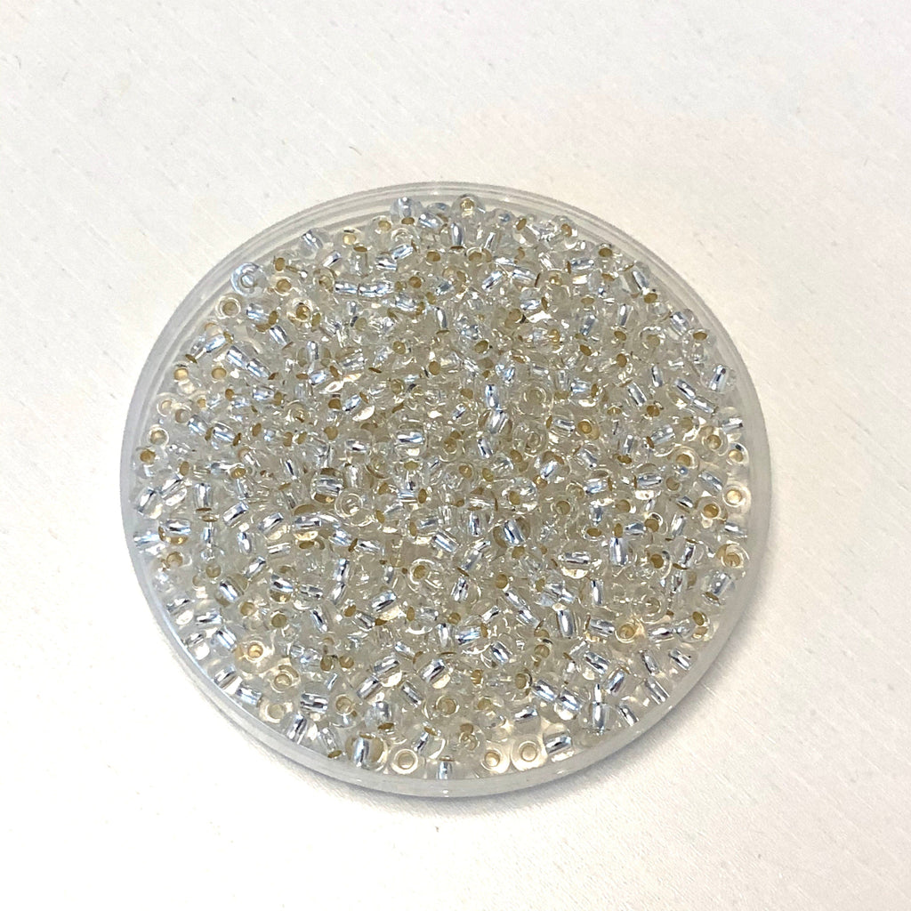 Preciosa Seed Beads 6/0 Rocailles-Round Hole 20 gr, 78102 Crystal Silver Lined