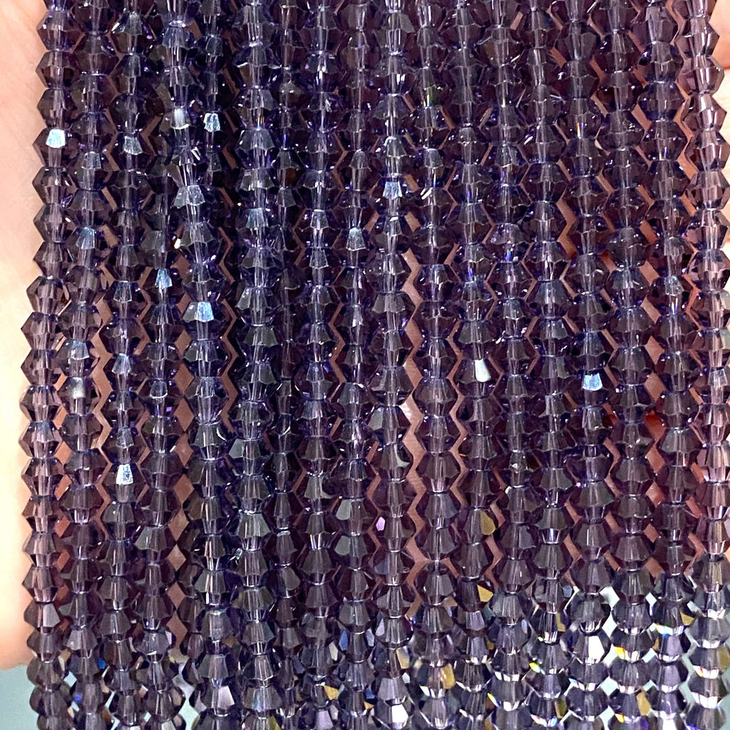 4mm Crystal faceted bicone - 110 pcs -4 mm - full strand - PBC4B8,Crystal Bicone Beads, Crystal Beads, glass beads, beads