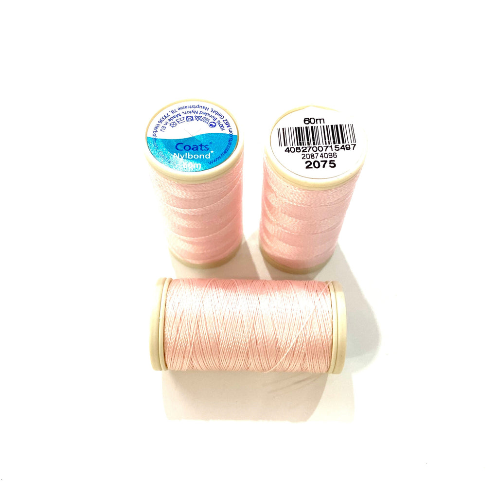 Coats, Nylbond extra strong beading thread | 60mt | pale pink 2075