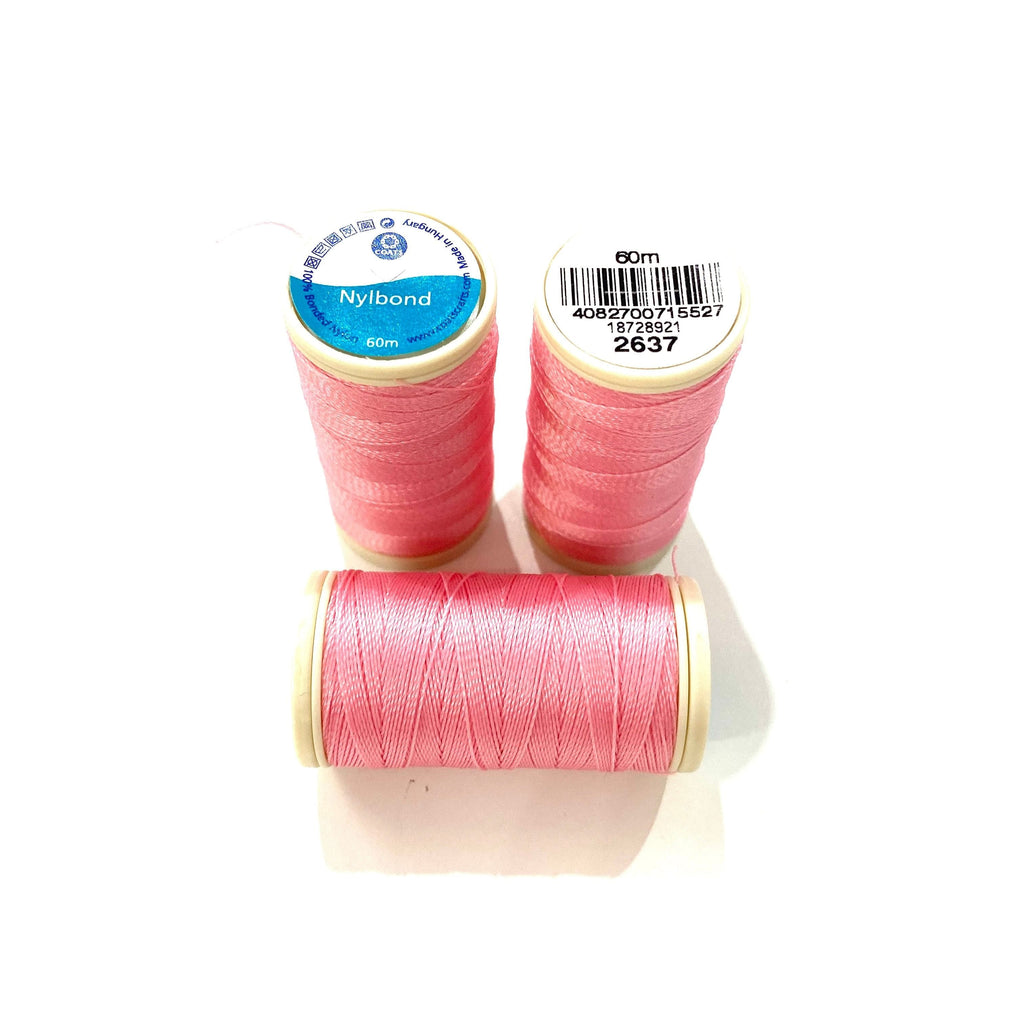 Coats, Nylbond extra strong beading thread | 60mt | pink 2637