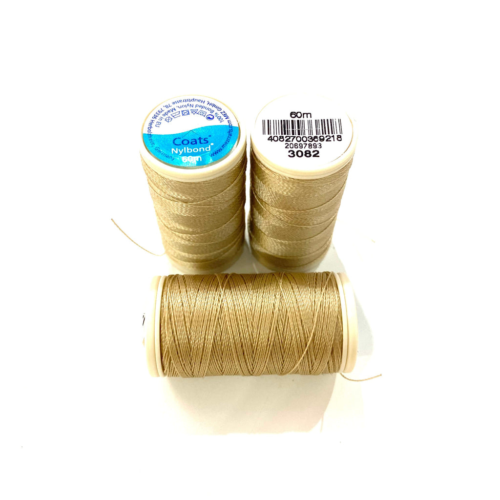 Coats, Nylbond extra strong beading thread | 60mt | Light Beige 3082