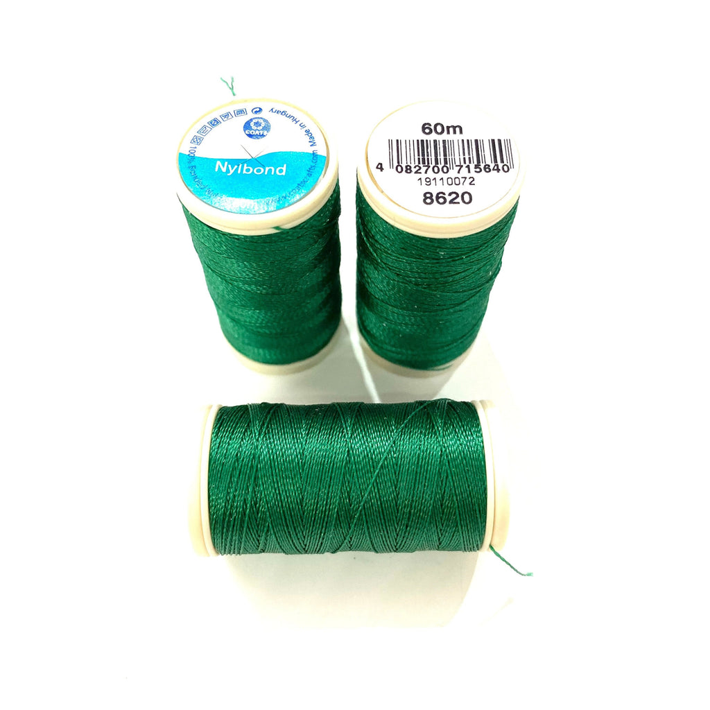 Coats, Nylbond extra strong beading thread | 60mt | myrtle 8620