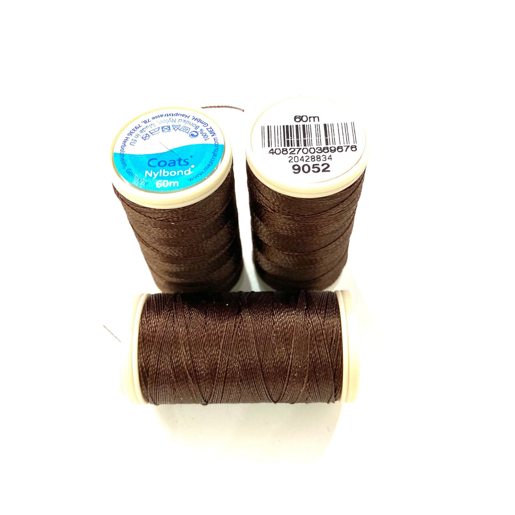 Coats, Nylbond extra strong beading thread | 60mt | dark brown 9052
