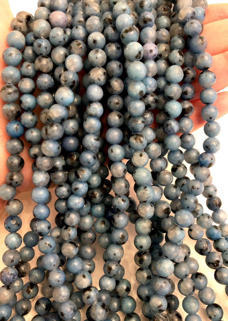 Blue Agate Round  8mm, 47 beads per strand,Beads,Gemstone Beads,Natural Gemstone