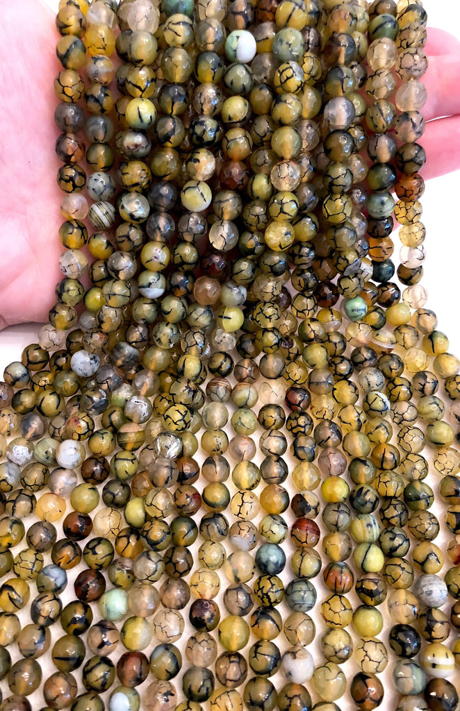 Aquarius Agate faceted 8mm, 47 beads per strand,Beads,Gemstone Beads,Natural Gemstone
