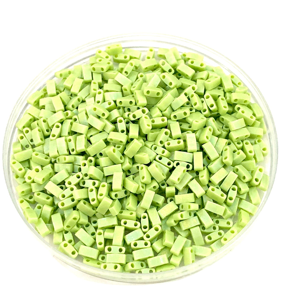 Miyuki Half Tila Beads HTL0416FR Matted Chartreuse Matted AB ,