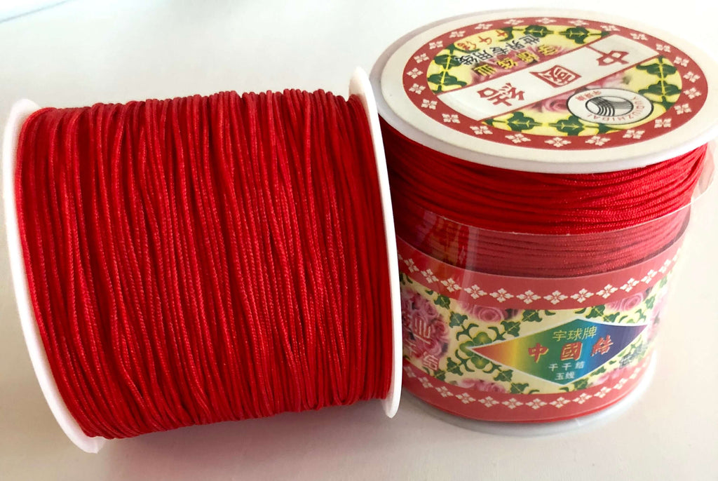 1MM Red Knotting Braided Nylon Cord Shamballa Macrame Beading String