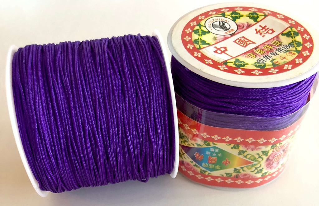 1MM Purple Knotting Braided Nylon Cord Shamballa Macrame Beading String