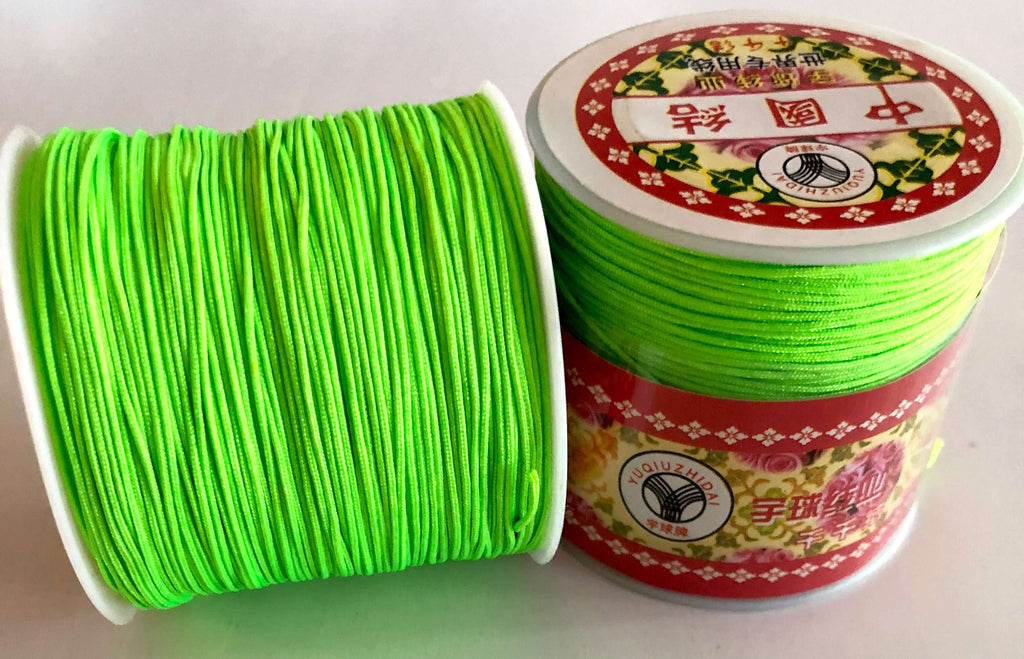 1MM Neon Green Knotting Braided Nylon Cord Shamballa Macrame Beading String
