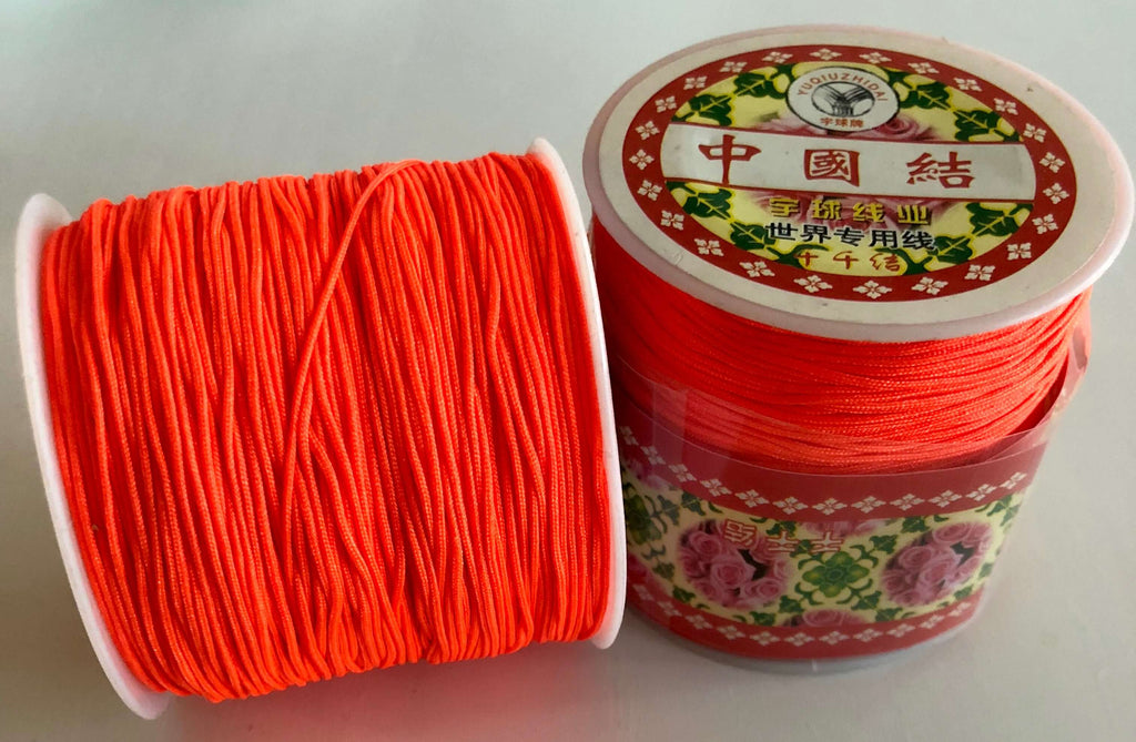 1MM Orange Knotting Braided Nylon Cord Shamballa Macrame Beading String