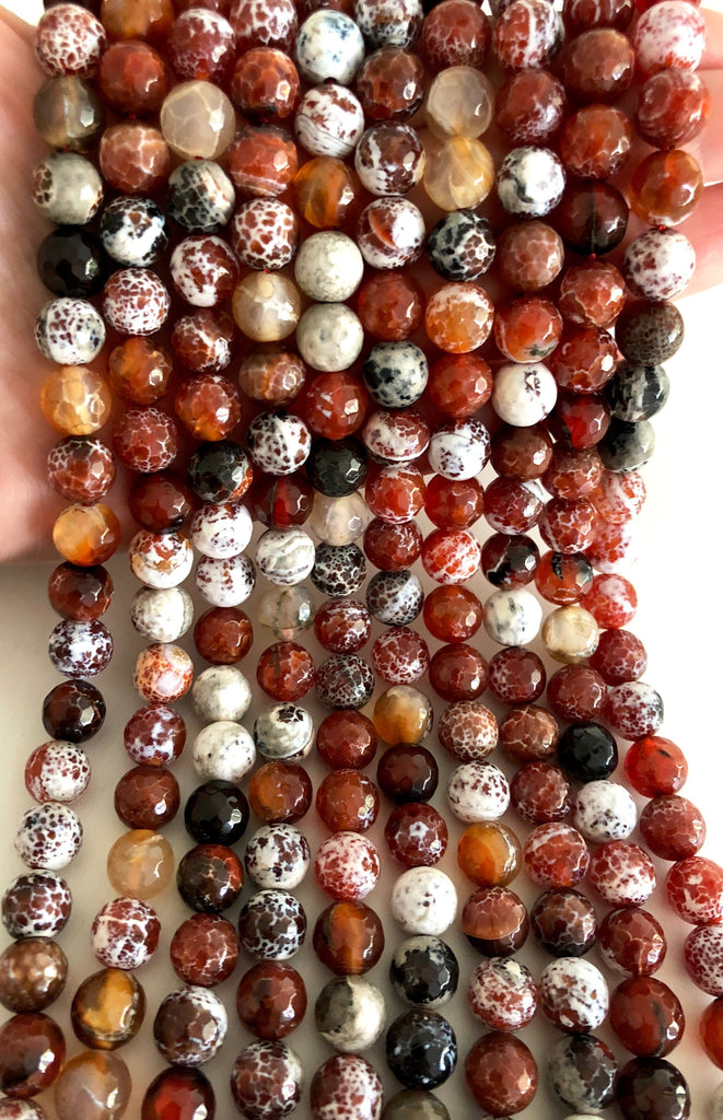 Agate faceted 10mm, 40 beads per strand,Beads,Gemstone Beads,Natural Gemstone