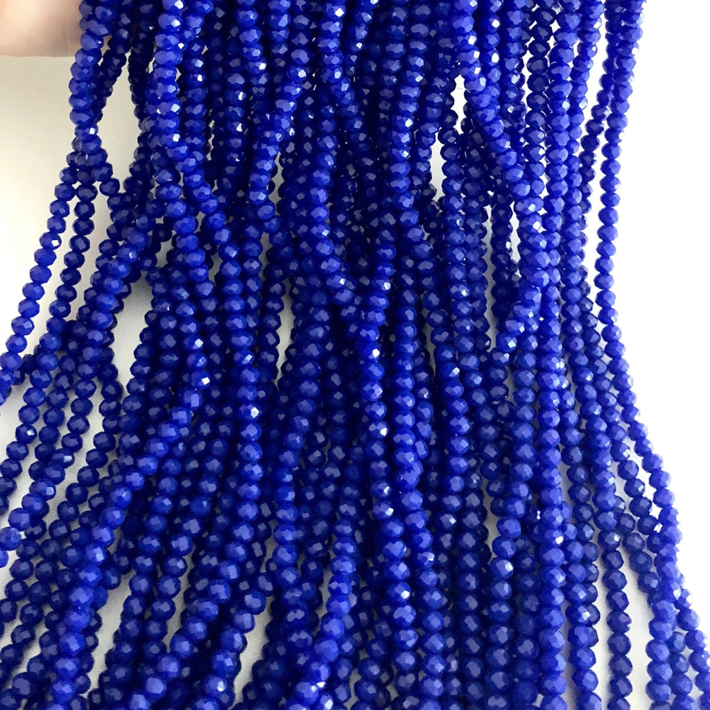 Crystal faceted rondelle - 150 pcs -3mm - full strand - PBC3C51, Crystal Beads,Beads, glass beads, beads crystal rondelle beads