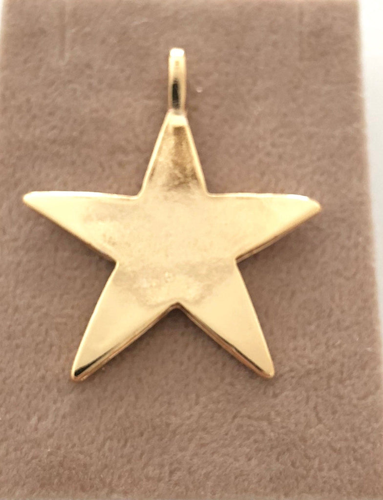 Star Pendant, Star Charm, Gold Star Pendant, Rose Gold Star Pendant