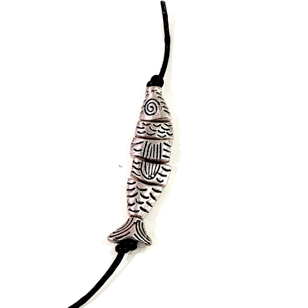 Silver Fish Pendant 35x8mm,Silver Plated Fish Pendant