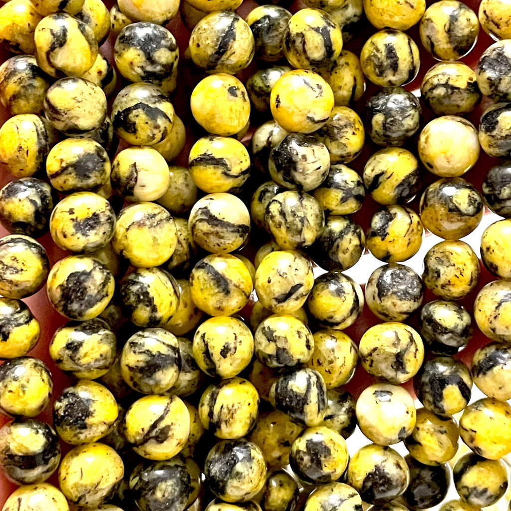 Yellow Jade(dyed) Beads, 8mm Round Beads, 15.5 Inch, Full strand, Approx 48 beads, Hole 1mm, A quality