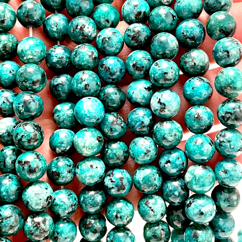 Turquoise Green Jade(dyed) Beads, 8mm Round Beads, 15.5 Inch, Full strand, Approx 48 beads, Hole 1mm, A quality