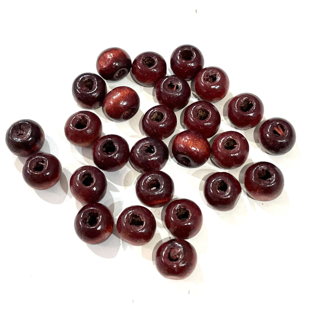 6 mm Wooden Beads Vine Color, 50 Gr Pack