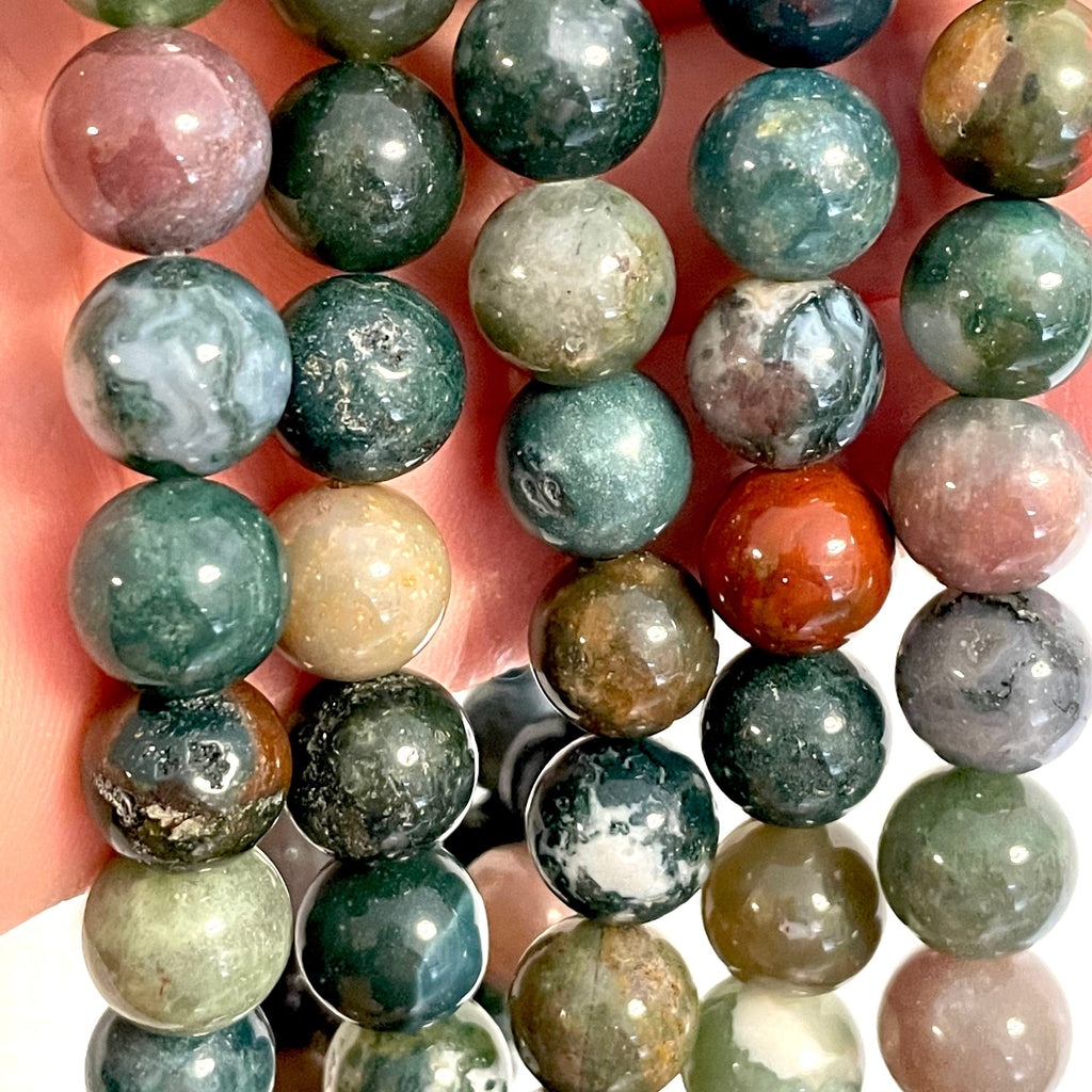 Genuine Indian Agate 12 mm round beads , full strand 33 beads,Beads,Gemstone Beads,Natural Gemstone