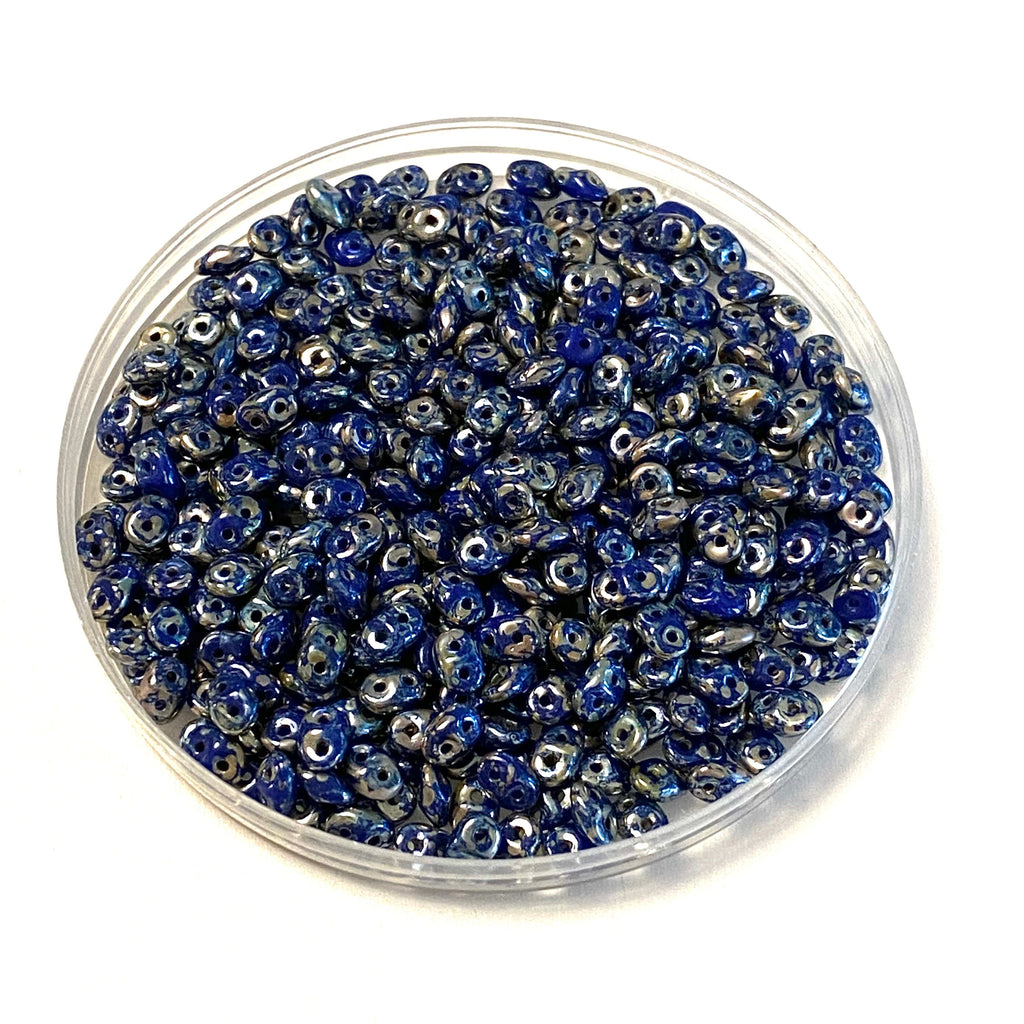 Matubo Superduo Beads 2.5X5mm, Blue Rembrandt, Superduo Beads