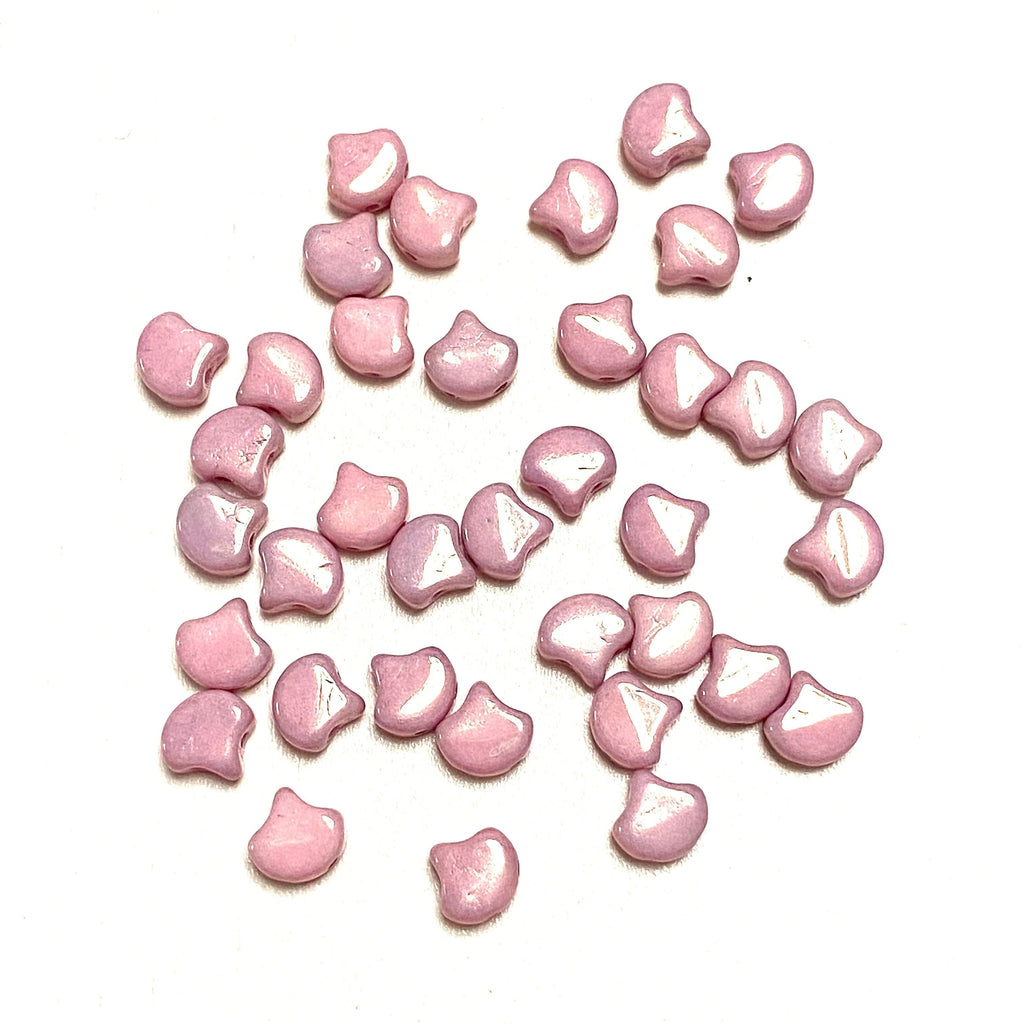 Matubo Ginko Duo Beads 7,5X7,5 mm ,Chalk Lilac Luster, Ginko Duo Beads, 40 Beads Pack