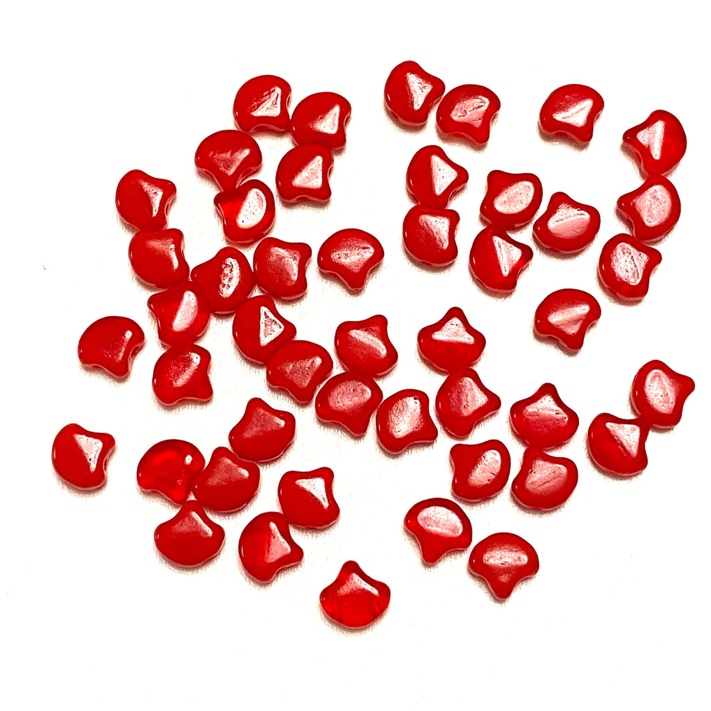 Matubo Ginko Duo Beads 7,5X7,5 mm ,Opal Red, Ginko Duo Beads, 40 Beads Pack