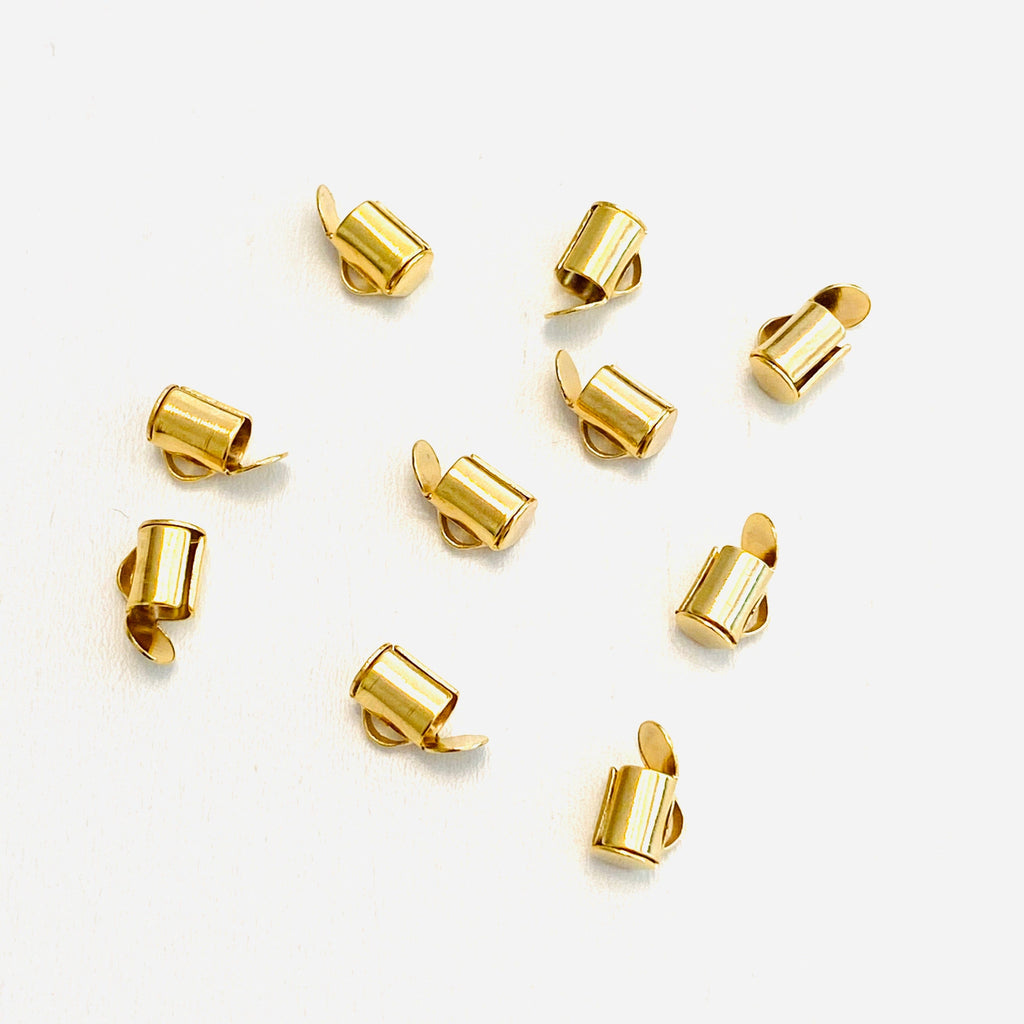 Miyuki Slide End Tubes, 6mm Gold Plated 10 Tubes in a pack