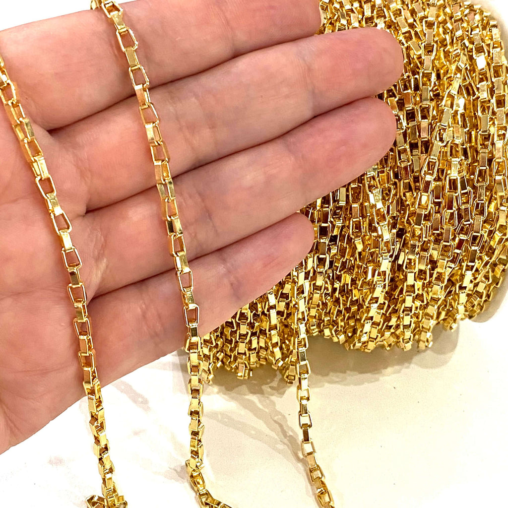24Kt Shiny Gold Plated Chain 5x3mm Open Links