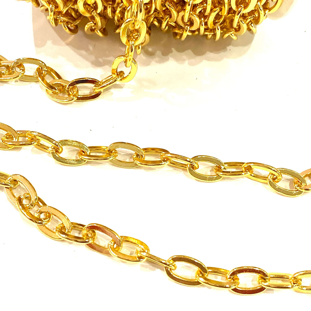 24Kt Shiny Gold Plated Chain 12x7.5mm Open Links