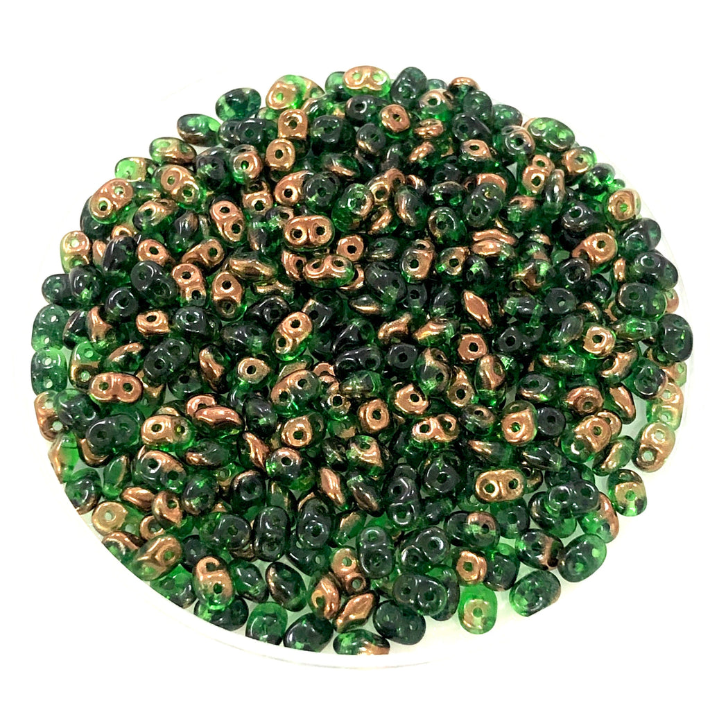 Matubo Superduo Beads 2.5X5mm,Chrysolite Semi Bronze Luster Superduo Beads