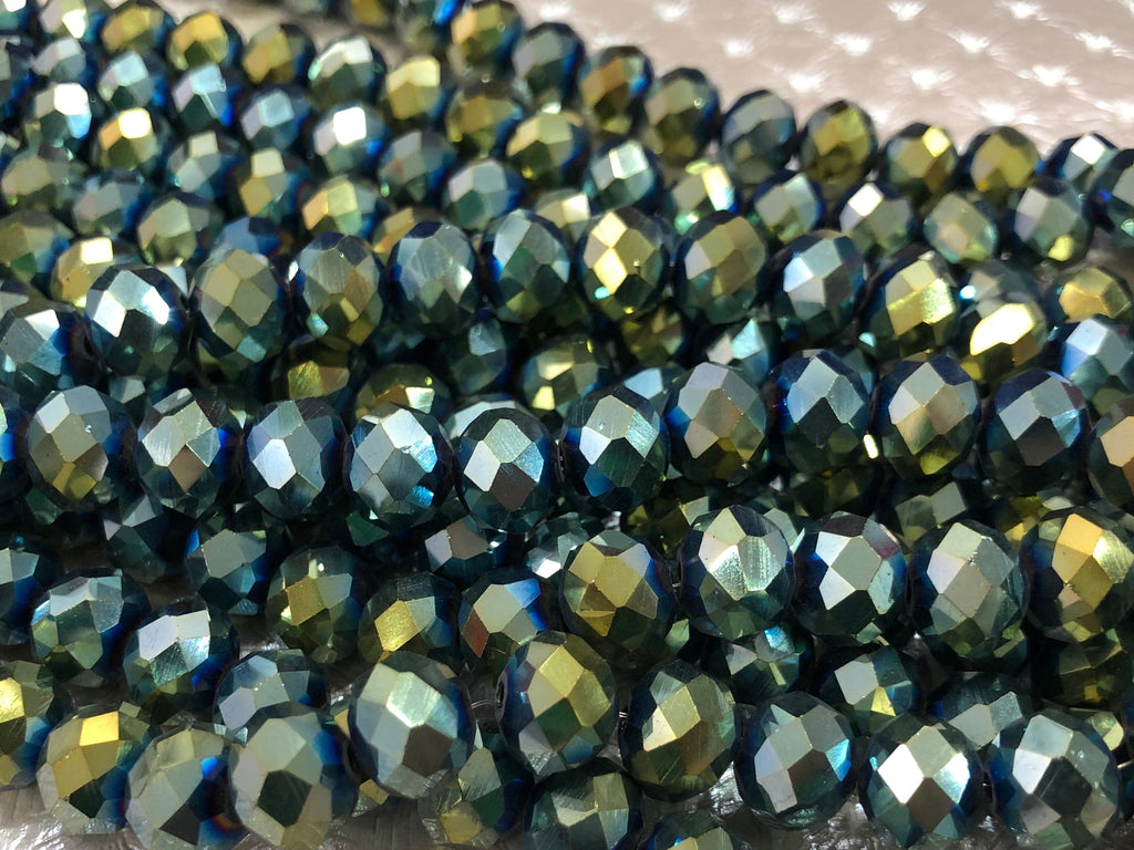Crystal faceted rondelle - 72 pcs - 10 mm - full strand - PBC10C19,Crystal Beads, Beads, glass beads, beads crystal rondelle beads