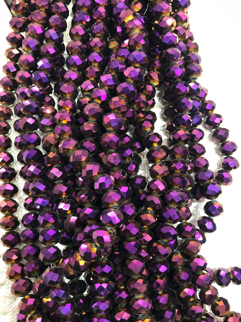 Crystal faceted rondelle - 72 pcs - 10 mm - full strand - PBC10C16,Crystal Beads, Beads, glass beads, beads crystal rondelle beads