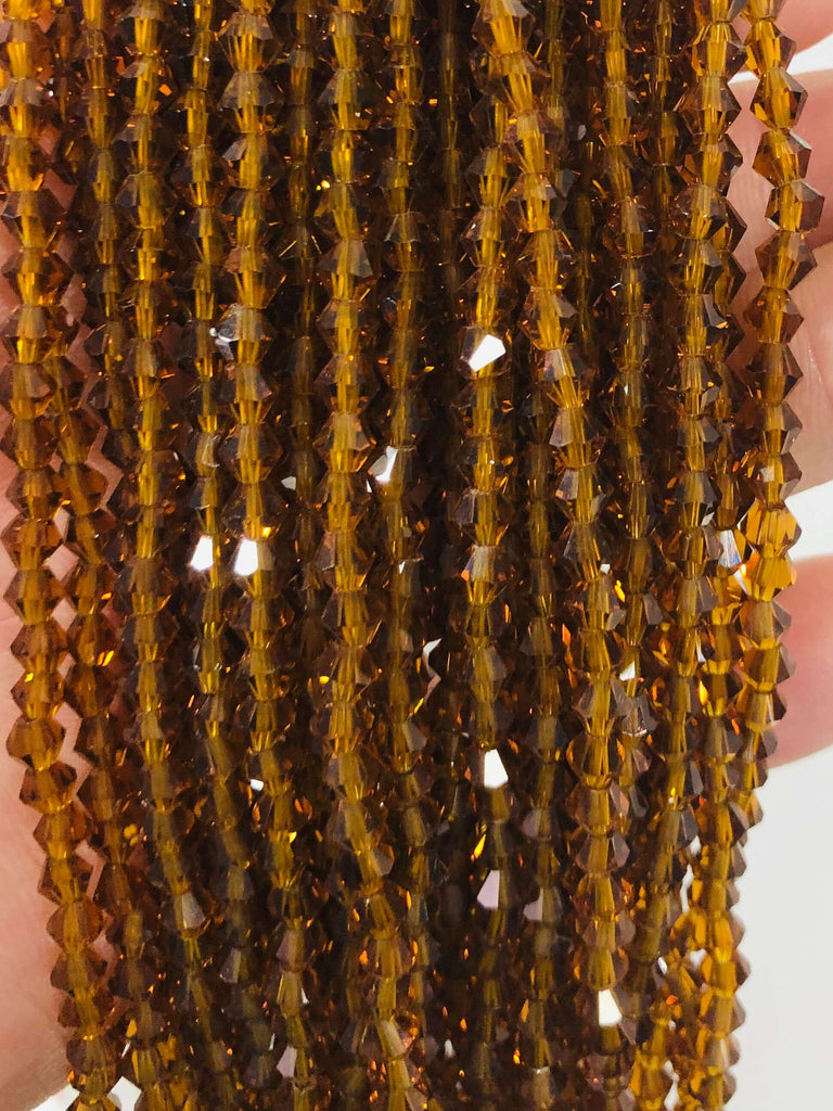 4mm Crystal faceted bicone - 115 pcs -4 mm - full strand - PBC4B25,Crystal Bicone Beads, Crystal Beads, glass beads, beads