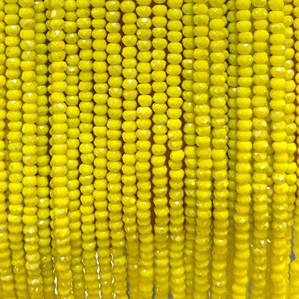 Crystal faceted rondelle - 200 pcs -2mm - full strand - PBC2C7