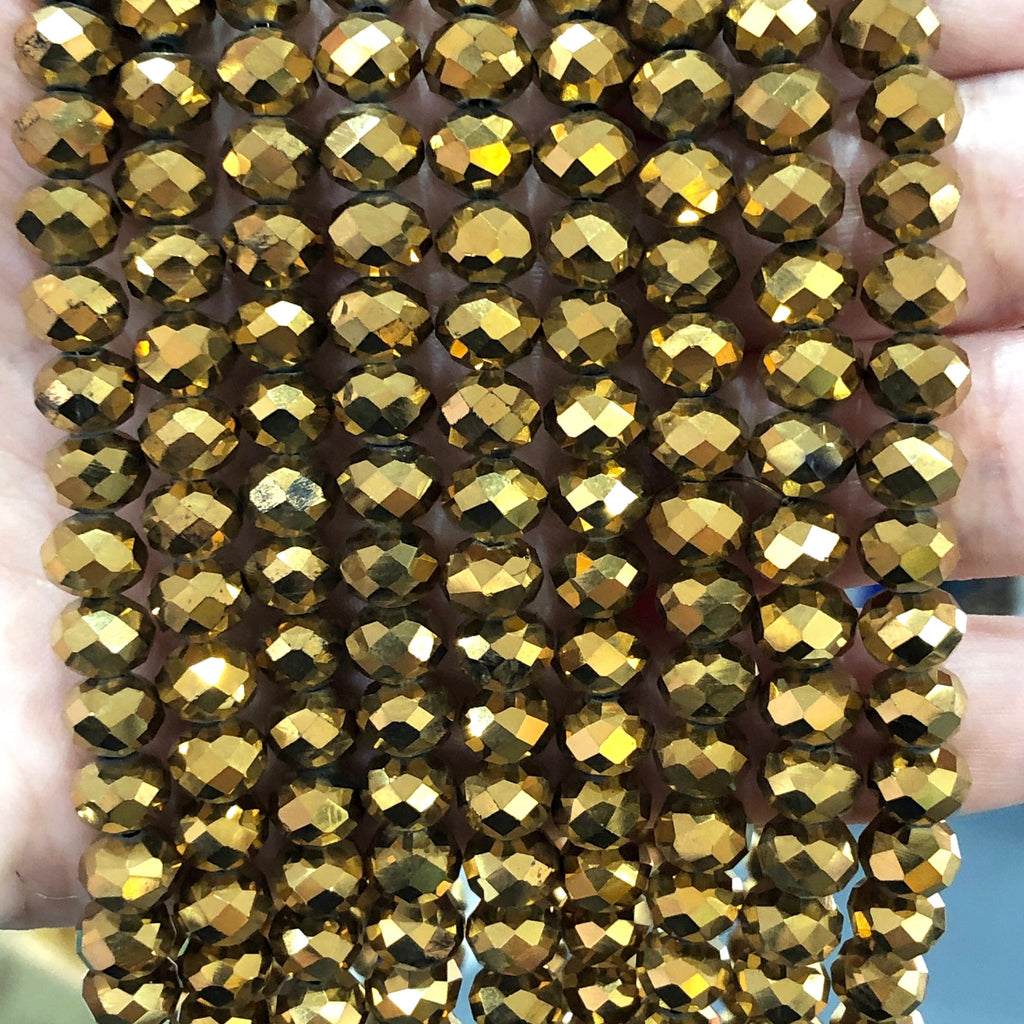 Crystal faceted rondelle - 72 pcs - 8 mm - full strand - PBC8C9
