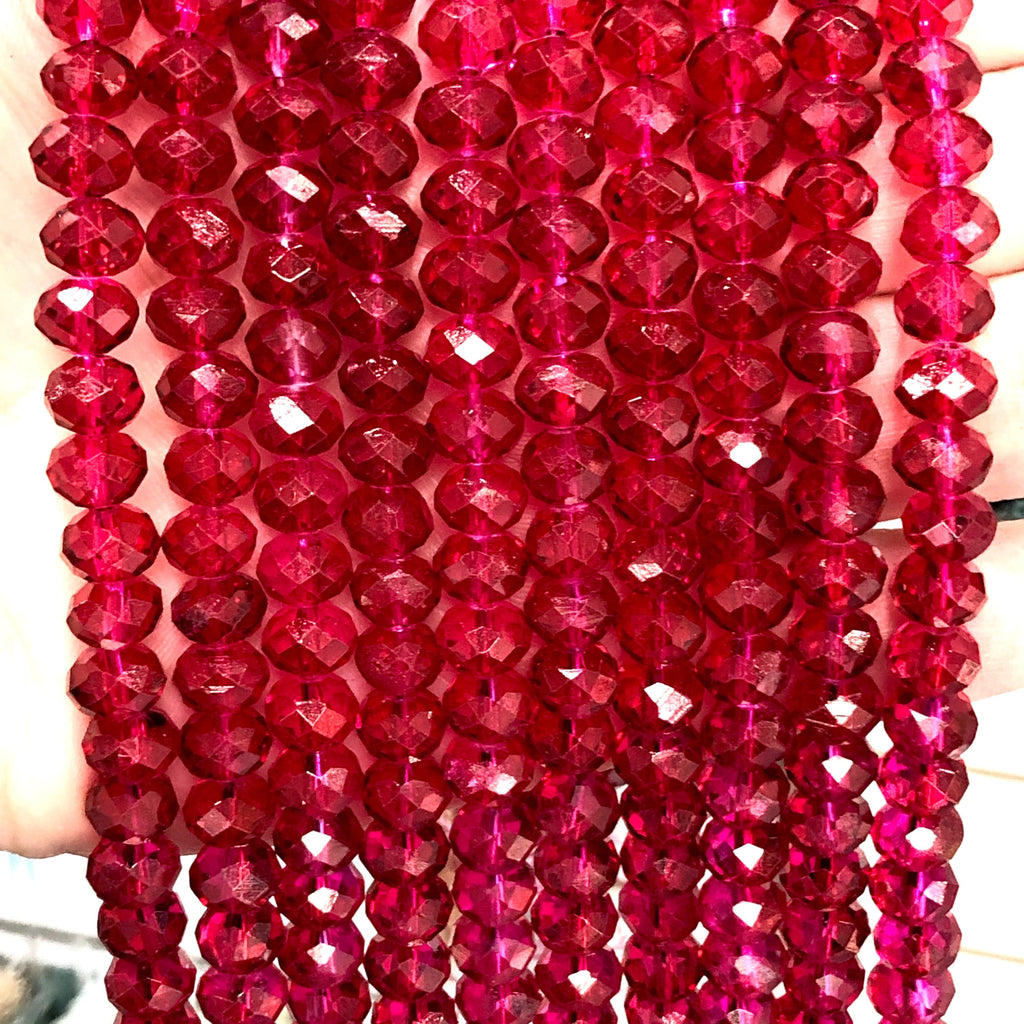Crystal faceted rondelle - 72 pcs - 8 mm - full strand - PBC8C47