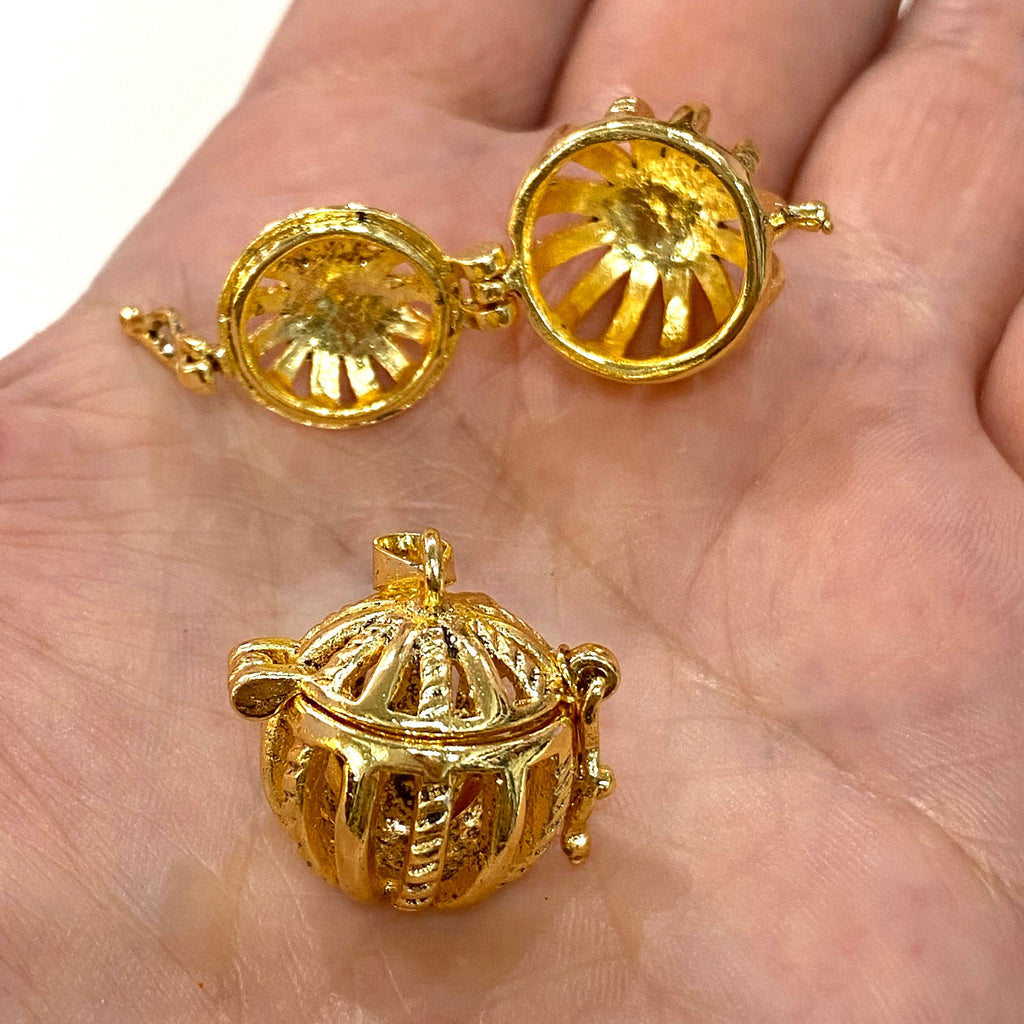 Pandora's Box 24Kt Gold Plated Brass Pendant