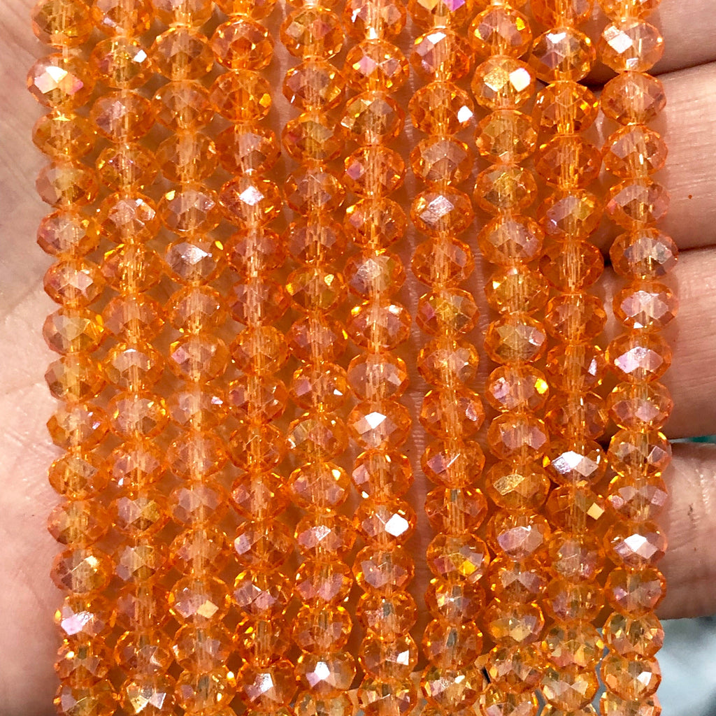 Crystal faceted rondelle - 100 pcs -6 mm - full strand - PBC6C56,