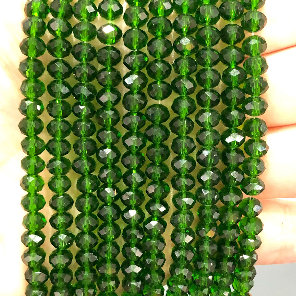 6mm Crystal faceted rondelle - 100 pcs -6 mm - full strand - PBC6C81,