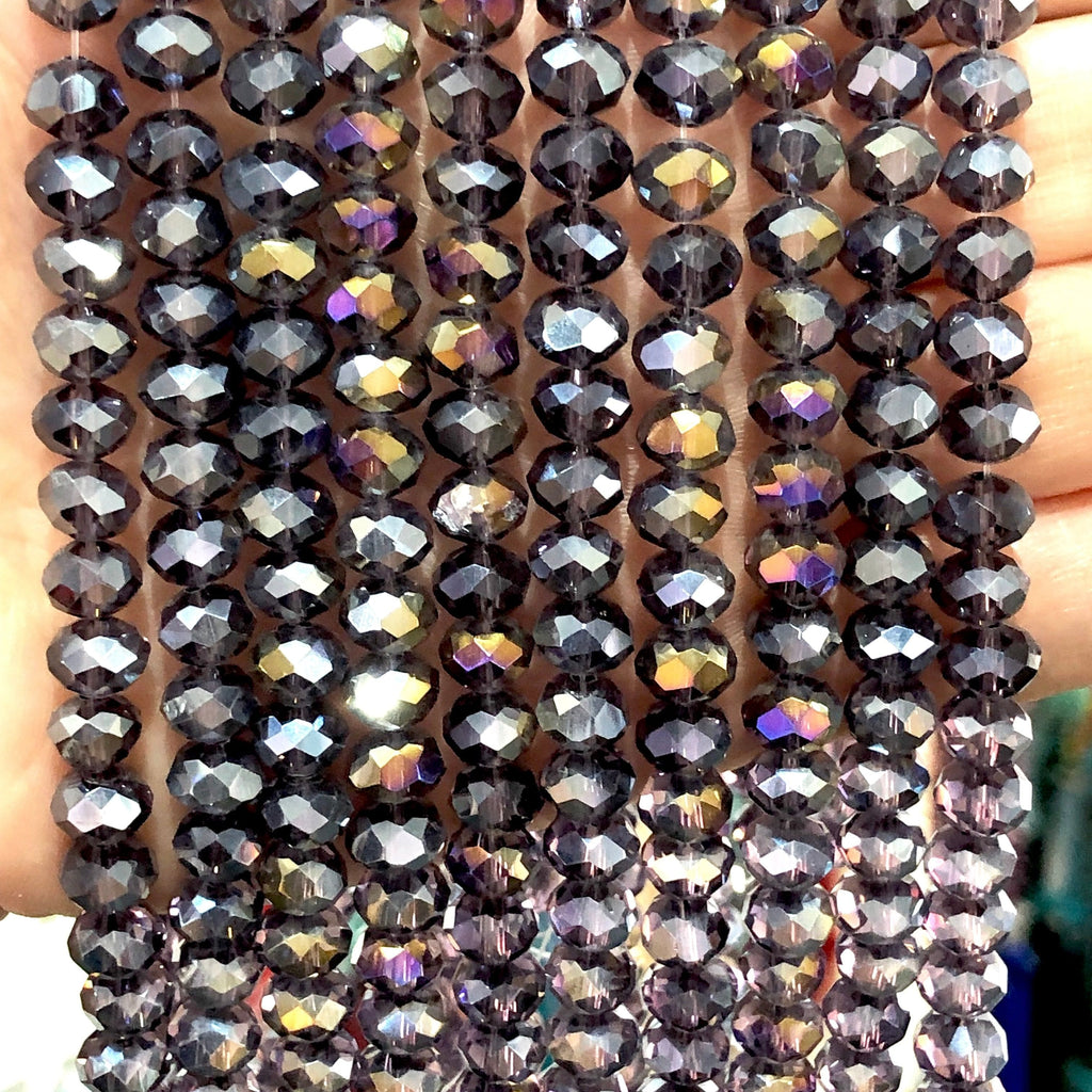 Crystal faceted rondelle - 72 pcs - 8 mm - full strand - PBC8C29