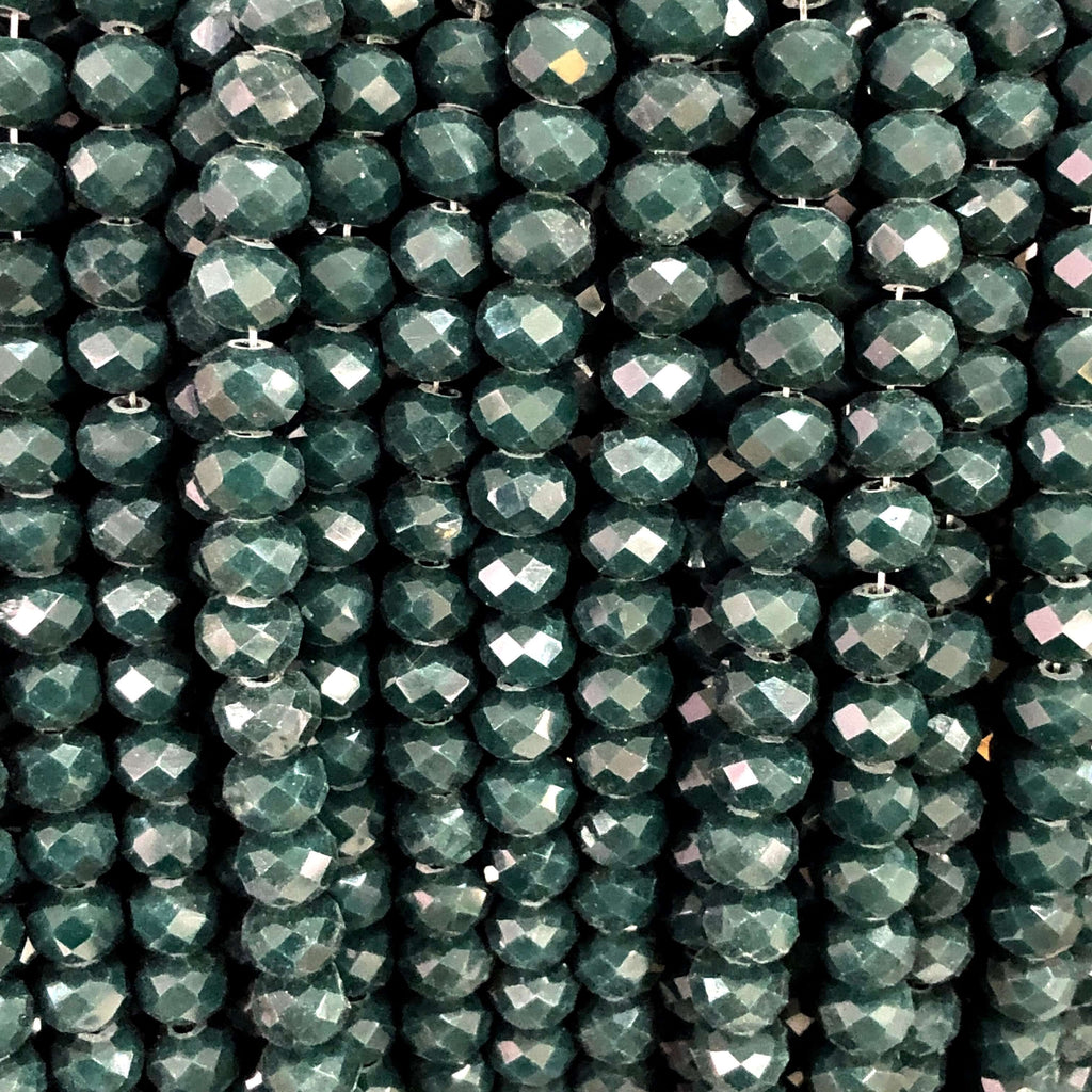 6mm Crystal faceted rondelle - 100 pcs -6 mm - full strand - PBC6C106,