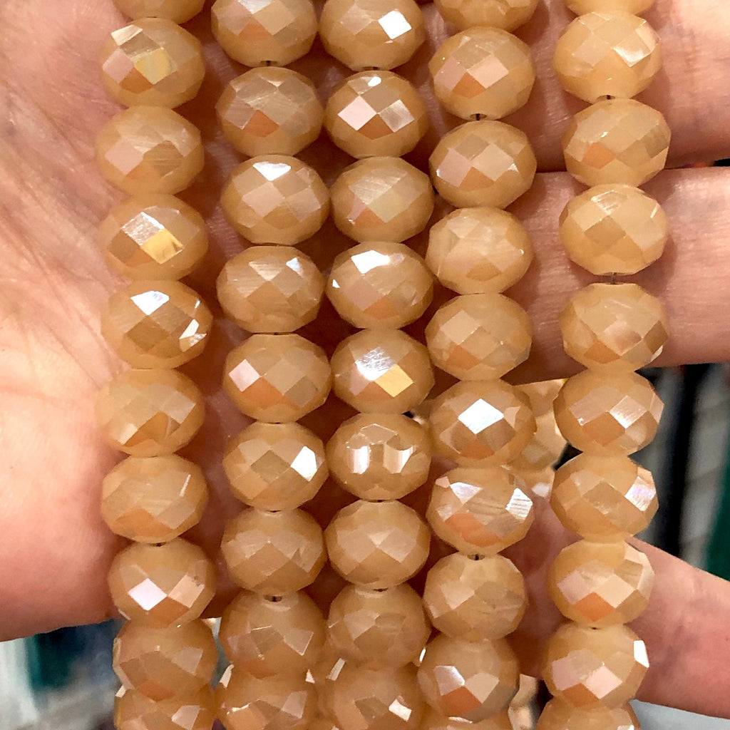 Crystal faceted rondelle - 72 pcs - 10 mm - full strand - PBC10C2,Crystal Beads, Beads, glass beads, beads crystal rondelle beads