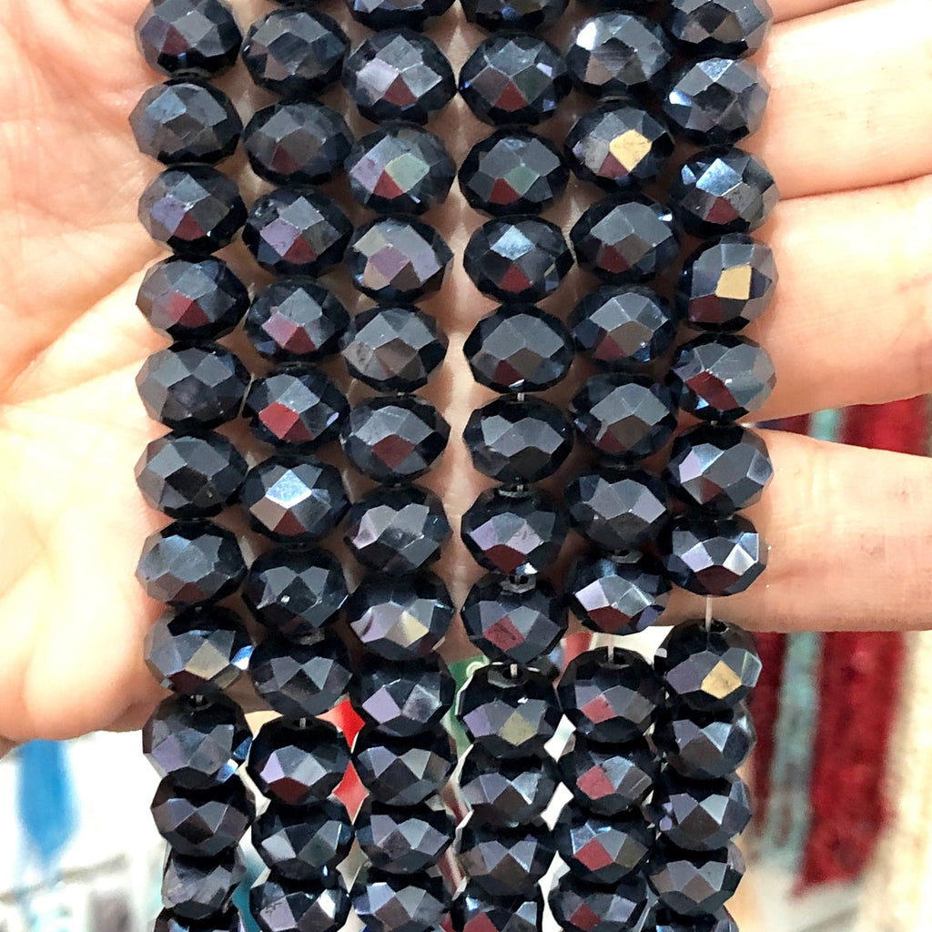 Crystal faceted rondelle - 72 pcs - 10 mm - full strand - PBC10C24,Crystal Beads, Beads, glass beads, beads crystal rondelle beads