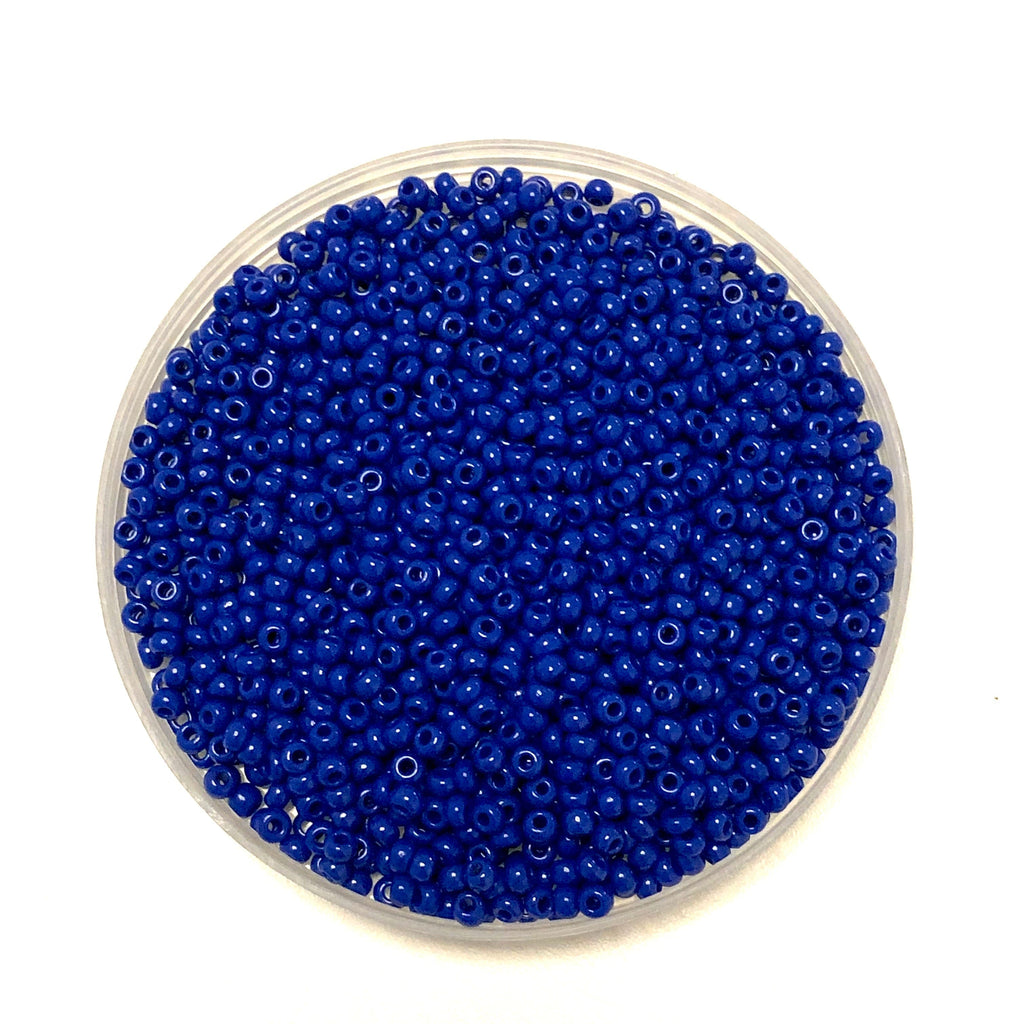 Preciosa Seed Beads 8/0 Rocailles-Round Hole 20 gr, 33050 Opaque Blue