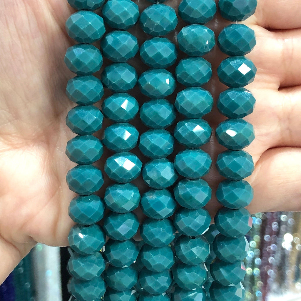 Crystal faceted rondelle - 72 pcs - 10 mm - full strand - PBC10C14,Crystal Beads, Beads, glass beads, beads crystal rondelle beads