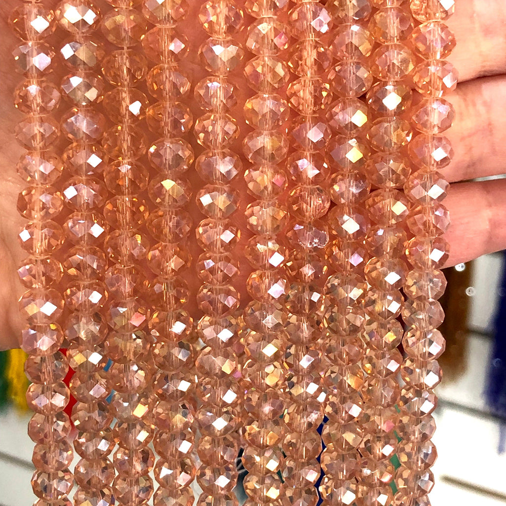 Crystal faceted rondelle - 72 pcs - 8 mm - full strand - PBC8C50