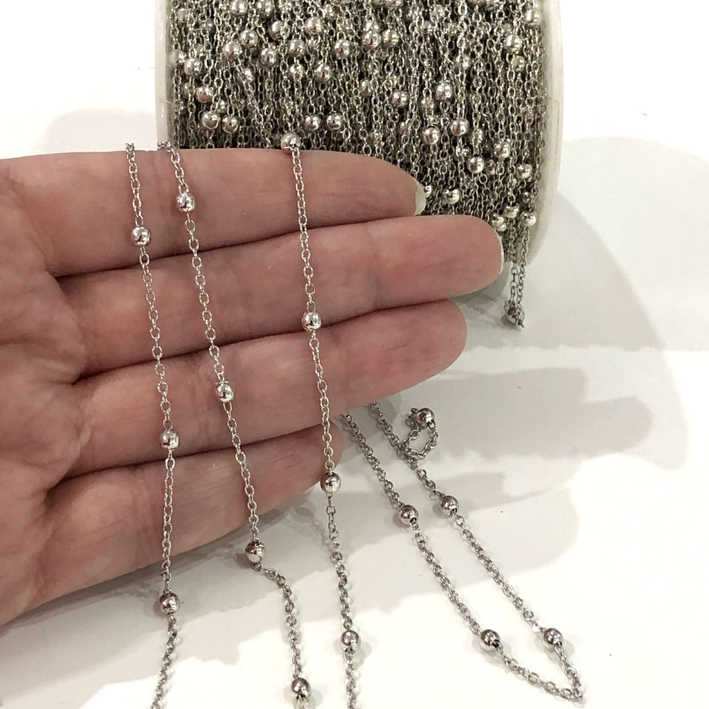 5 Metre Bulk Silver Plated  Cable Chain, Silver Plated Soldered Chain